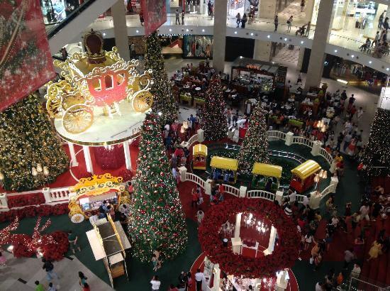 centro commerciale pavillon kuala lumpur a natale