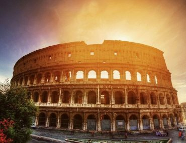 colosseo roma al tramonto